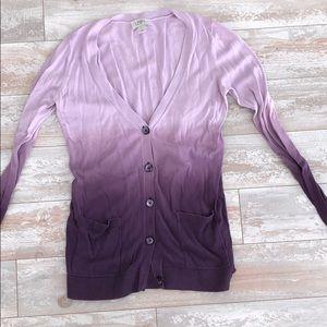Loft Purple Ombre Cardigan